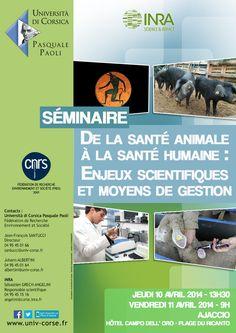 Séminaire - De la santé animale à la santé humaine : Enjeux scientifiques et moyens de gestion