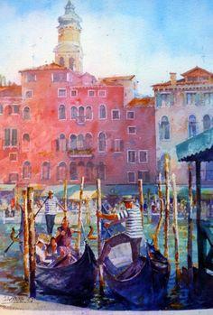 Geoffrey Wynne Acuarelas - Watercolours: Venecia - Venice