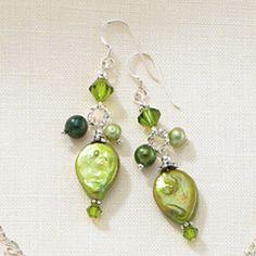 Irish Rain Earrings Freshwater pearls Swarovski by celtictreasures