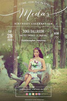 Birthday Invitation | Vintage Invitation | Photo Editing