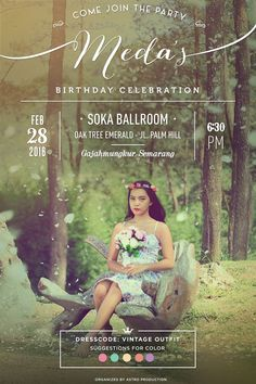 Birthday Invitation | Vintage Invitation | Photo Editing