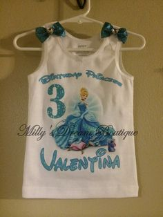 Cinderella Personalized Shirt ciderella by MillysDreamBoutique