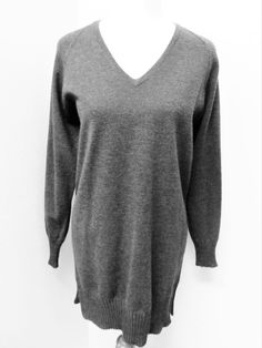 NWOT STNT Style C. Delemazure Sz L CHARCOAL GRAY SWEATER DRESS/LONG SWEATER #STNTstyleCdelemazure #SweaterDress #Casual