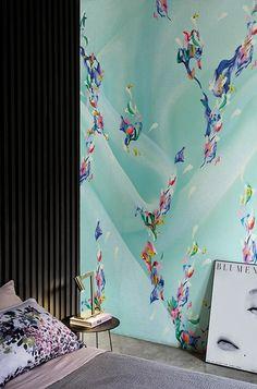 Motif Wallpaper RAINBOW Contemporary Wallpaper 2016 Collection By Wallu0026decò  Design Elisa Vendramin