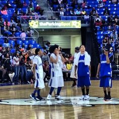 Mb at the celebrity basketball game.