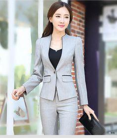 baa43ee64b9 High Quality 2016 Women Formal Suit Set Office Ladies Workwear Female Pant  Suits elegant business uniform style trouser suit   Nice plus size clothing  shop ...