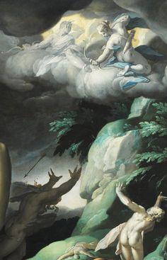 Abraham Bloemaert. Detail from Apollo and Diana Punishing Niobe by Killing her Children, 1591.