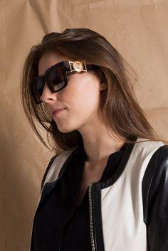 Óculos Tartaruga e Dourado www.magarderobestore.com