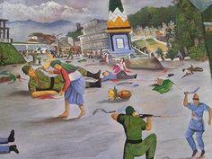 A painting of Gorkhaland Movement July 27, 1986 | Indian Gorkha