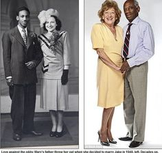 Love against the odds: Mary's father threw her out when she decided to marry Jake in 1948. Decades later their love is still strong! You love who you love
