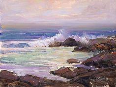 """Lawrence Churski ~ """"Carmel, California"""" - Oil ~ 12"""" x 16"""""""