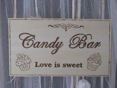 Candy-Bar Schild