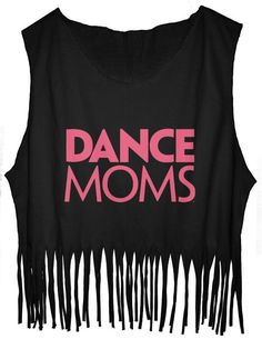 JDS Fringe Tank Top Dance Moms T-Shirt Famous TV Show Dance Competition Ever (One Size, Black)