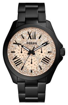 Fossil+'Cecile'+Pavé+Dial+Multifunction+Bracelet+Watch,+40mm+available+at+#Nordstrom
