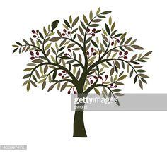 Vector Art : Olive tree .