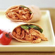 Weight Watchers Barbeque chicken wrap with leftover bbq chicken. My favourite WW recipe!