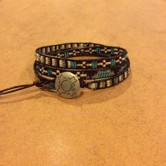 A personal favorite from my Etsy shop https://www.etsy.com/listing/224141212/brown-turquoise-and-cream-boho-hippie
