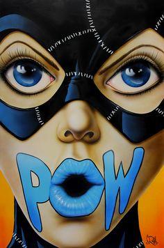 Pow (lips) by Scott Rohlfs. Catwoman