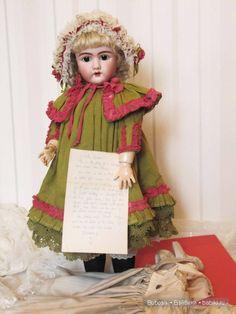 Ранний Handwerck 109 DEP с провенансом и тремя комплектами одежды / Антикварные куклы, реплики / Шопик. Продать купить куклу / Бэйбики. Куклы фото. Одежда для кукол
