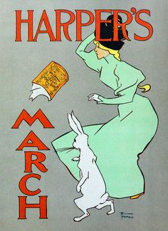 Vintage Illustration by Lee Sutton, via Flickr Advertisement for Harper's Magazine, 1894