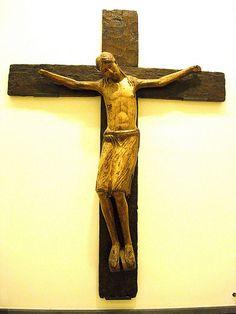 """Jesus Christ on Cross"" - wood sculpture 1st half 13th century - from Pozzuoli, Church Cioffi-Russo, Naples, Capodimonte Museum   da * Karl *"