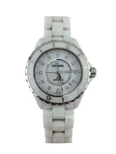 e0360f29df25 Chanel Ceramic Diamond 38mm J12 Automatic Watch
