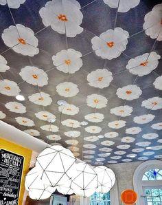 O teto da Mercearia da Casa