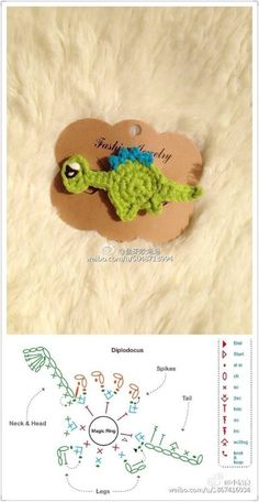 Crochet appliqué chart pattern