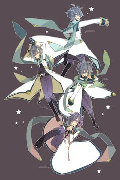 """Kaito V3"" Vocaloid fanart by Yoshiki"