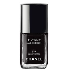 Chanel Black Satin -  Le Vernis 219 Efeito Metálico Mirrored Effect