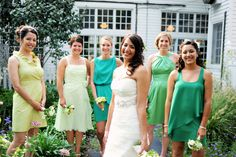 Totally different bridesmaids dresses!