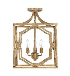 FREE SHIPPING. Purchase the Blakely Lantern Ceiling Mount in Antique Gold today at lightingconnection.com. Capital Lighting 94814AG