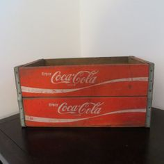 Vintage Coke Wooden Crates Wooden Crate Wood by oZdOinGItagaiN, $65.00