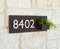 8 x 22 Contemporary Brown Succulent Hanging Planter by UrbanMettle