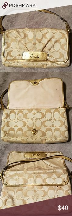 Coach clutch, gold Enough room for all your essentials! Bags Clutches & Wristlets