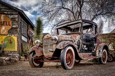 Old Ford at hackberry AZ taken with my Canon 5D Mk II.