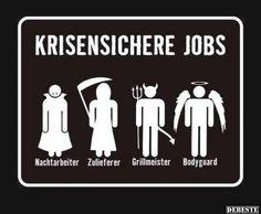 Krisensichere Jobs | Lustige Bilder, Sprüche, Witze, echt lustig