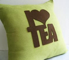 Custom Your Color. I Love Tea Typography Dusty Green Decorative Pillow Cover Pillow Case.New Home Gift Home Decor sold by OwnWonderland. Shop more products from OwnWonderland on Storenvy, the home of independent small businesses all over the world.