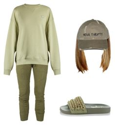 """Olive💚"" by beautyqueen-927 ❤ liked on Polyvore featuring Balmain, Acne Studios and Chanel"