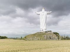 Photographer Fabrice Fouillet's series Colosses shows the mammoth statues from all over the world. Fouillet says of his work: 'I wanted human figures in th Statues, Creepy Houses, Christ The King, Colossal Art, Roadside Attractions, French Photographers, Photo Series, Place Of Worship, Unique Photo