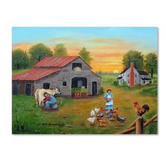Trademark Fine Art 'Early Morning' Canvas Art by Arie Reinhardt Taylor, Size: 18 x 24, Multicolor