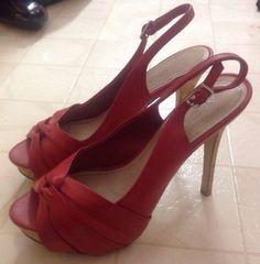 Women's ALDO Retro Look Red Stilletto Open Toe SEXY HOT Pumps Heels - Size 38 #ALDO #OpenToe
