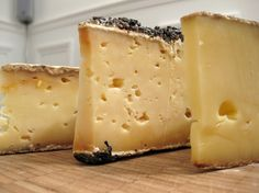 Tommes de Savoie #Cheese : From left, we have here Tomme de Bauges, Tomme Marc de Raisin, and Tomme Fermière.