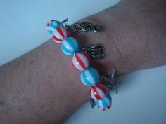 Beach Ball Bracelet With Beach Charms by traceysjewellery on Etsy, Beach Ball, Handmade Jewellery, Pandora Charms, Charmed, Bracelets, Etsy, Jewelry, Handmade Jewelry, Jewels