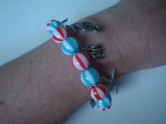 Beach Ball Bracelet With Beach Charms by traceysjewellery on Etsy, £10.50