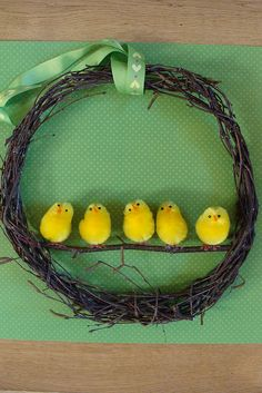 Cute Easter chick wreath | Flickr - Photo Sharing!