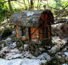 A fairy caravan- you must have this parked out front of your faerie house next time we come!