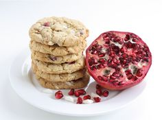 Pomegranate White Chocolate Chunk Cookies. I can never get enough pomegranate!