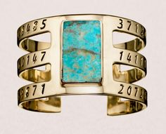 Bullet Inlay Cage Cuff with Turquoise. #remadeintheusa