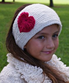 Another great find on #zulily! Ecru & Heart Cable-Knit Wool Headband #zulilyfinds